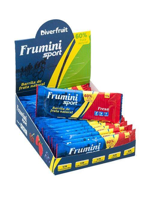 Caja de Fruminis Sport Fresa, barrita natural para deportistas